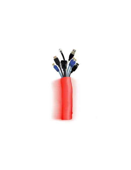 Multibrackets 4573 kabelsamlare Kabelstrumpa Röd 1 styck Multibrackets 7350073734573 - 1