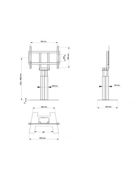 """Multibrackets 4597 kyltin näyttökiinnike 2.79 m (110"""") Musta Multibrackets 7350073734597 - 8"""
