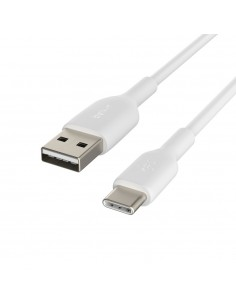 Belkin CAB001BT1MWH USB-kablar 1 m USB A C Vit Belkin CAB001BT1MWH - 1