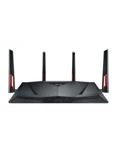 ASUS RT-AC88U trådlös router Gigabit Ethernet Dual-band (2,4 GHz / 5 GHz) 3G 4G Svart, Röd Asus 90IG01Z0-BU2000 - 1