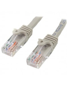 StarTech.com 45PAT1MGR verkkokaapeli 1 m Cat5e U/UTP (UTP) Harmaa Startech 45PAT1MGR - 1