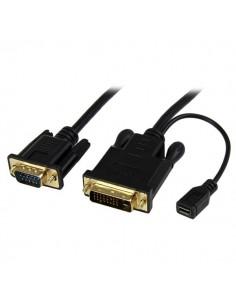 StarTech.com DVI2VGAMM10 videokabeladapter 3 m VGA (D-Sub) DVI-D + USB Svart Startech DVI2VGAMM10 - 1