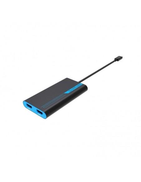 Sapphire 44005-02-20G videokaapeli-adapteri 0.28 m Thunderbolt 3 2 x HDMI Sininen, Harmaa Sapphire Technology 44005-02-20G - 1