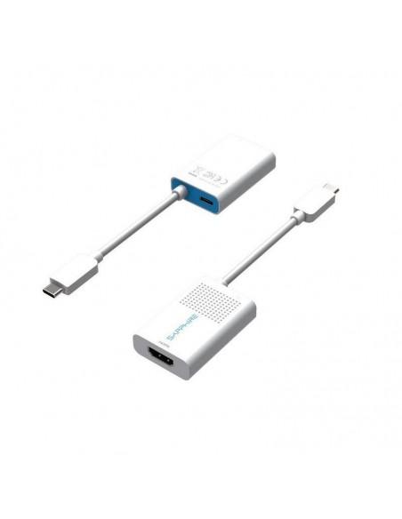 Sapphire 44005-03-20G videokaapeli-adapteri USB Type-C HDMI + Valkoinen Sapphire Technology 44005-03-20G - 1