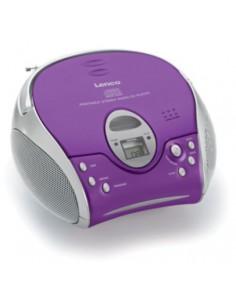 Lenco SCD-24 Portable CD player Purple, Silver Lenco SCD24PU - 1
