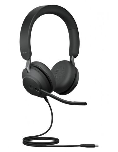 Jabra Evolve2 40. MS Stereo Kuulokkeet Pääpanta Musta Jabra 24089-999-899 - 1