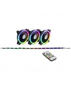 Inter-Tech RS-04 RGB Tietokonekotelo Tuuletin Inter-tech Elektronik Handels 88885481 - 1