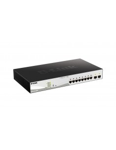 D-Link DGS-1210-10MP verkkokytkin Hallittu L2/L3 Gigabit Ethernet (10/100/1000) Power over -tuki Musta D-link DGS-1210-10MP - 1