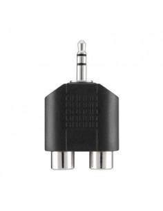 Belkin Portable Audio Adapter 3.5mm/2xRCA M/F Musta Belkin F3Y120BF - 1