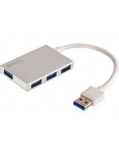 Sandberg USB 3.0 Pocket Hub 4 ports 3.2 Gen 1 (3.1 1) Type-A 5000 Mbit/s Valkoinen Sandberg 133-88 - 1