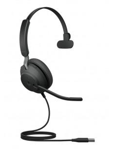 Jabra Evolve2 40. MS Mono Kuulokkeet Pääpanta Musta Jabra 24089-899-999 - 1