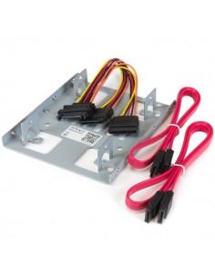 """StarTech.com Dubbelt 2,5"""" till 3,5"""" HDD-fäste för SATA-hårddiskar – fäste monteringsfack 2 enheter Startech BRACKET25X2 - 1"""