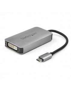 StarTech.com CDP2DVIDP USB grafiikka-adapteri 2560 x 1600 pikseliä Musta, Hopea Startech CDP2DVIDP - 1
