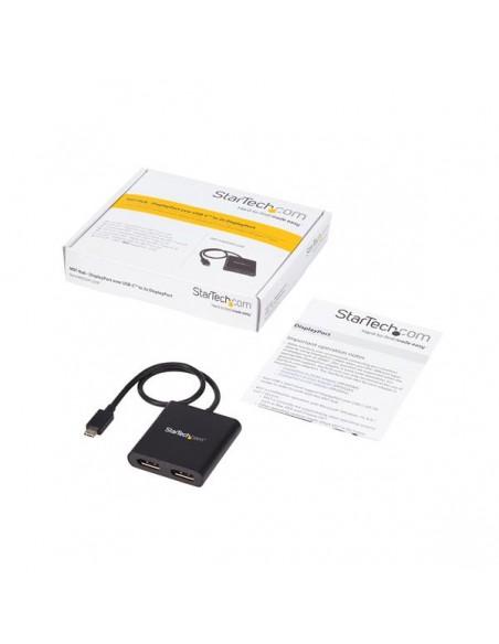 StarTech.com USB-C till DisplayPort-flerskärmsadapter - MST-hubb med 2 portar Startech MSTCDP122DP - 8