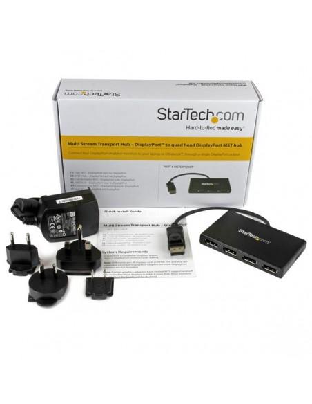 StarTech.com DisplayPort to Multi-Monitor Splitter - 4-Port MST Hub Startech MSTDP124DP - 9