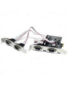StarTech.com 4 Port Native PCI Express RS232 Serial Adapter Card with 16550 UART Startech PEX4S553 - 1