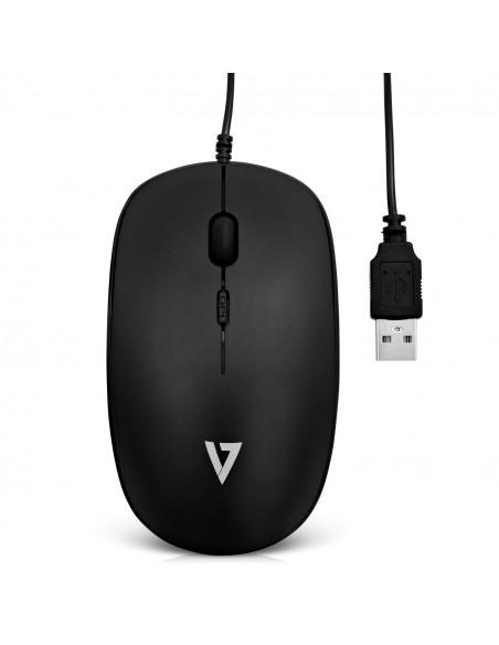 V7 MU200-1E hiiri USB Optinen 1600 DPI Molempikätinen V7 Ingram Micro MU200-1E - 3