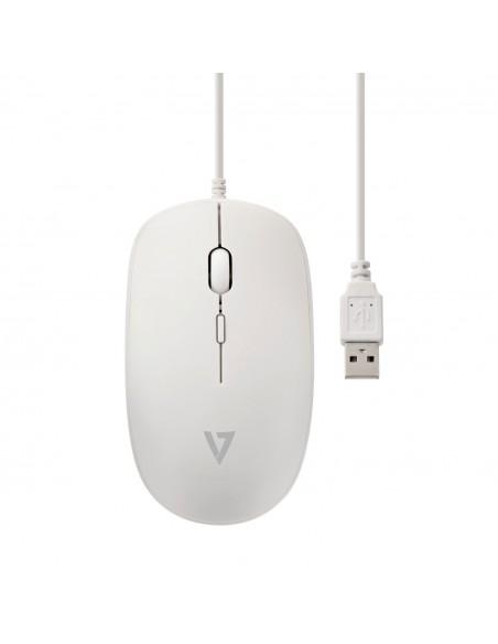 V7 MU200-WHT hiiri USB Optinen 1600 DPI Molempikätinen V7 Ingram Micro MU200-WHT - 4