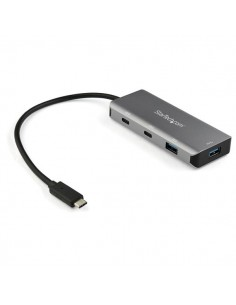 StarTech.com 4 Port USB C Hub w/ 2x A & - SuperSpeed 10Gbps Type-C 3.1/3.2 Gen 2 Bus Powered Portable USB-C to Adapter Aluminum