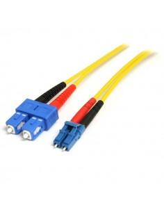 StarTech.com 1 m single-mode duplex fiberpatchkabel LC-SC Startech SMFIBLCSC1 - 1