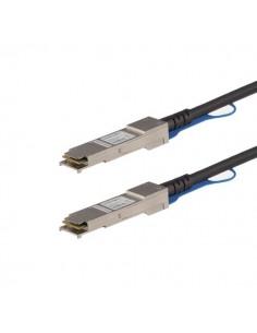 StarTech.com MSA-kompatibel QSFP+-twinaxkabel för direktanslutning - 0.5 m Startech QSFP40GPC05M - 1