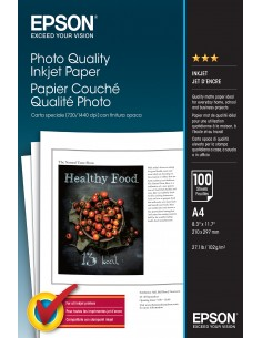 Epson Photo Quality Inkjet Paper - A4 100 Sheets Epson C13S041061 - 1