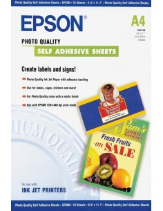 Epson Self-Adhesive Photo Paper - A4 10 ark Epson C13S041106 - 1