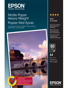 Epson Matte Paper Heavy Weight - A4 50 ark Epson C13S041256 - 1