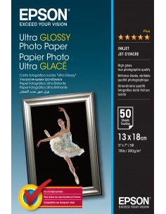 Epson Ultra Glossy Photo Paper - 13x18cm 50 Ark Epson C13S041944 - 1