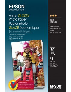 Epson Value Glossy Photo Paper - A4 50 Ark Epson C13S400036 - 1