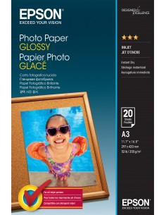 Epson Glossy - A3 20 sheets Epson C13S042536 - 1