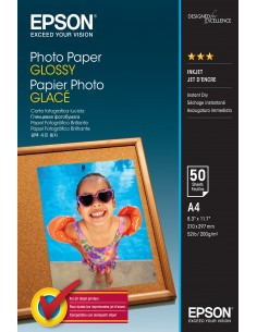 Epson Photo Paper Glossy - A4 50 Ark Epson C13S042539 - 1