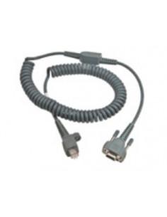 Intermec 6.5ft RS232 9-pin sarjakaapeli Harmaa 2 m D-sub Intermec 236-185-001 - 1