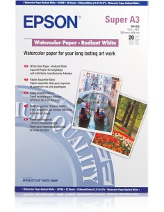 Epson WaterColor Paper - Radiant White, DIN A3+, 190 g/m², 20 arkkia Epson C13S041352 - 1