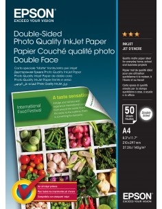 Epson Double-Sided Photo Quality Inkjet Paper - A4 50 Sheets Epson C13S400059 - 1