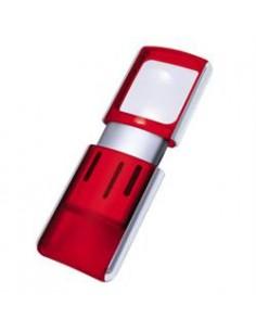 Wedo Rectangle Magnifier with LED light suurennuslasi Punainen 3x Wedo 2717502 - 1