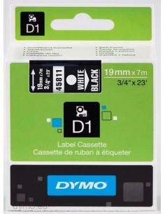 DYMO D1 - vakiopolyesteritarrat Valkoinen mustalla -19mm x 7m Dymo S0720910 - 1