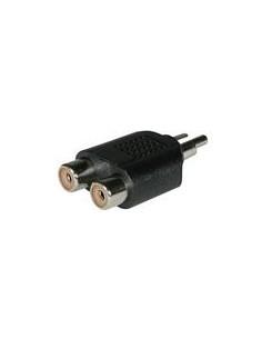 C2G RCA/Dual RCA Adapter 2x FM M Svart C2g 80476 - 1