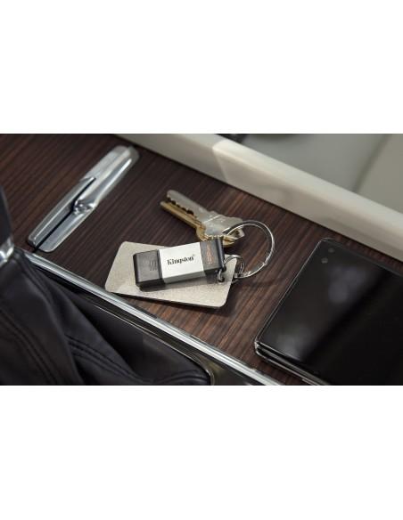 Kingston Technology DataTraveler 80 USB-muisti 128 GB USB Type-C 3.2 Gen 1 (3.1 1) Musta, Hopea Kingston DT80/128GB - 9
