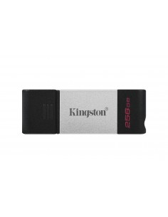 Kingston Technology DataTraveler 80 USB-muisti 256 GB USB Type-C 3.2 Gen 1 (3.1 1) Musta, Hopea Kingston DT80/256GB - 1