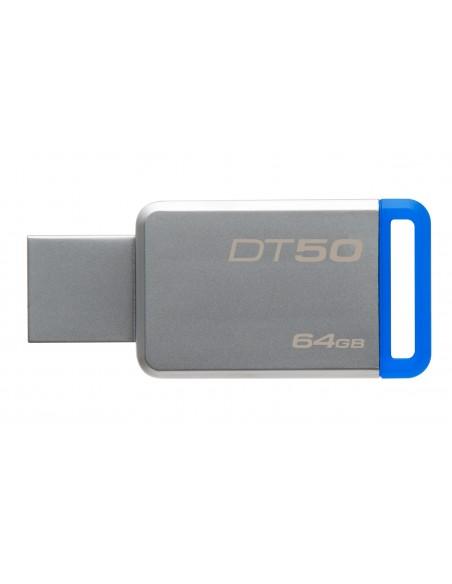 Kingston Technology DataTraveler 50 64GB USB-muisti USB A-tyyppi 3.2 Gen 1 (3.1 1) Sininen, Hopea Kingston DT50/64GB - 2