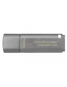 Kingston Technology DataTraveler Locker+ G3 USB-muisti 128 GB USB A-tyyppi 3.2 Gen 1 (3.1 1) Hopea Kingston DTLPG3/128GB - 1
