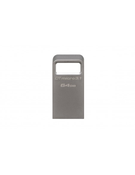 Kingston Technology DataTraveler Micro 3.1 64GB USB-muisti USB A-tyyppi 3.2 Gen 1 (3.1 1) Metallinen Kingston DTMC3/64GB - 3
