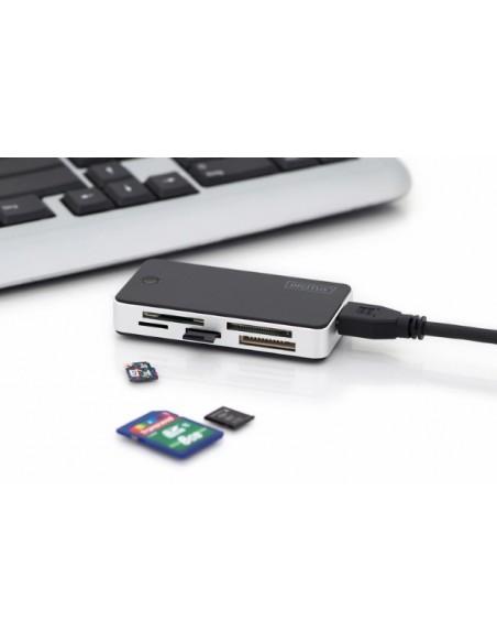 Digitus DA-70330-1 kortinlukija USB 3.2 Gen 1 (3.1 1) Musta, Valkoinen Digitus DA-70330-1 - 2