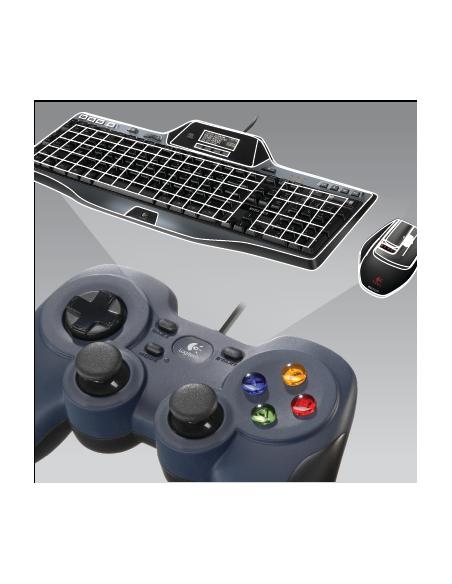Logitech G F310 Pad-ohjain PC Digitaalinen Musta, Sininen, Monivärinen Logitech 940-000138 - 10