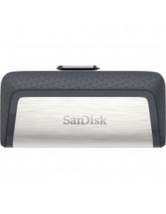 Sandisk Ultra Dual Drive USB Type-C USB-muisti 16 GB Type-A / 3.2 Gen 1 (3.1 1) Musta, Hopea Sandisk SDDDC2-016G-G46 - 1