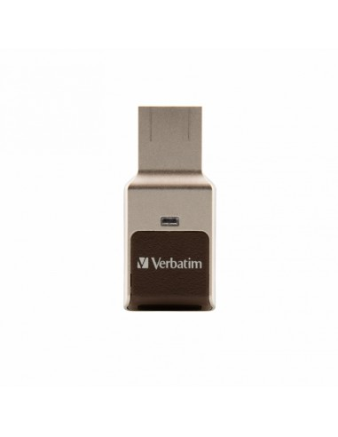 Verbatim Fingerprint Secure USB-muisti 32 GB USB A-tyyppi 3.2 Gen 1 (3.1 1) Hopea Verbatim 49337 - 1