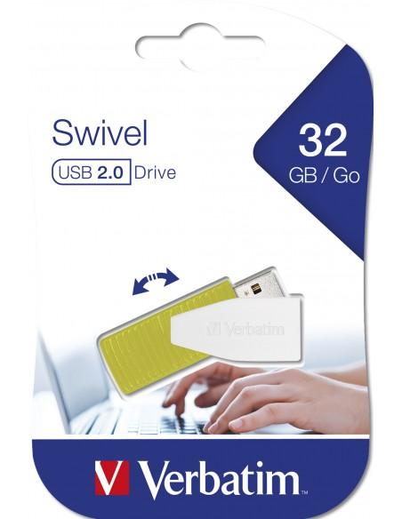 Verbatim Store 'n' Go Swivel USB-muisti 32 GB USB A-tyyppi 2.0 Vihreä Verbatim 49815 - 6