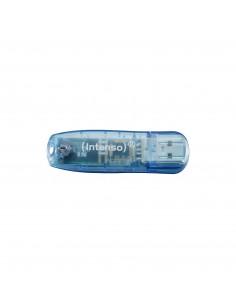Intenso Rainbow Line USB-muisti 4 GB USB A-tyyppi 2.0 Sininen Intenso 3502450 - 1