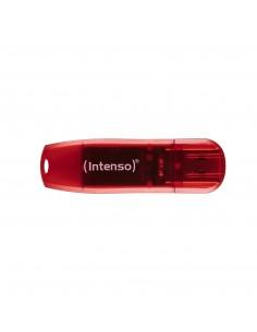 Intenso Rainbow USB-muisti 128 GB USB A-tyyppi 2.0 Punainen, Läpinäkyvä Intenso 3502491 - 1